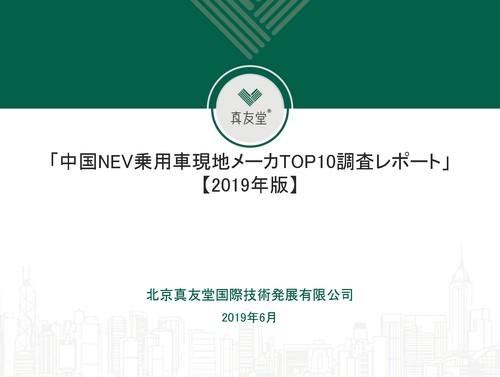 中国NEV乗用車現地メーカTOP10調査レポート【2019年版】