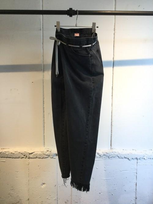 MAISON EUREKA    VINTAGE REWORK BIGGY PANTS (BLACK)