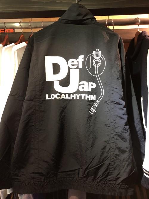 "LOCALHYTHM ""DEF JAP TRUCK  JKT""ナイロントラックジャケット DEF JAM 90's コットンライク beastie boys スイッチングナイロンジャケット 切り替えし"