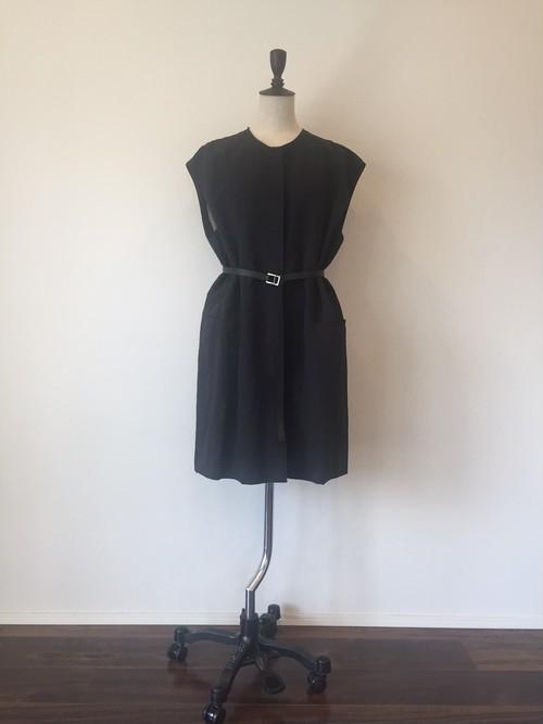 クルーネックベストコート(19ssV01)  black