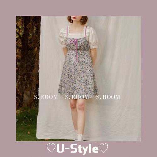 【即日発送】flower slip dress・SH8779
