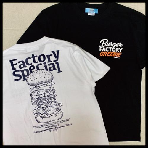 Burger Factory Tee【WHITE/BLACK】