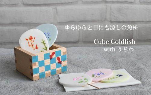 Cube Goldfish 金魚とうちわ