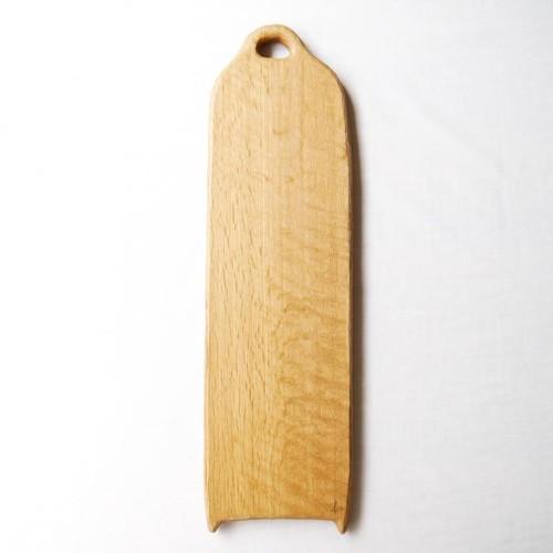 カッティングボード Lロング (ナラの木) エゴマ油仕上げ (47.8×13.7)