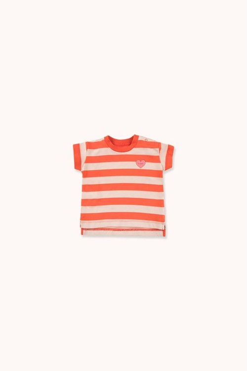 """TINYCOTTONS タイニーコットンズ """"HEART"""" STRIPES TEE size:12M(80-90)"""