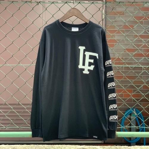 "LEFLAH / レフラー   "" LF TEAM LOGO "" LongSleeve-T / Black"
