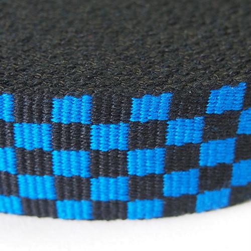 アクリル フラッグチェックテープ 32mm ブルー×ブラック 1反(50m)