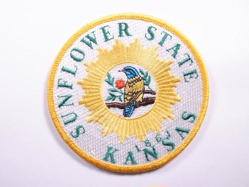 "PATCH""SUNFLOWER STATE KANSAS 1861"""