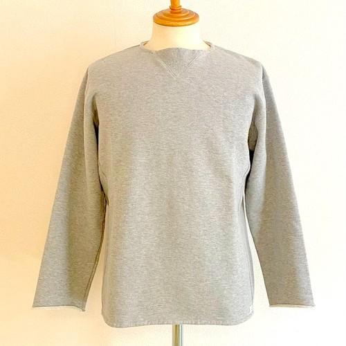 Hanging Knitting Plain Stitch Fabric Cut-Off Big 9/S Tee  Tsurimoku Gray
