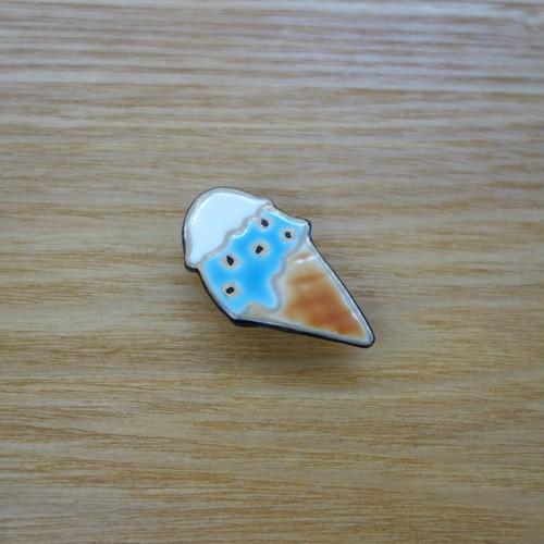 アイスクリーム(帯留・ブローチ)