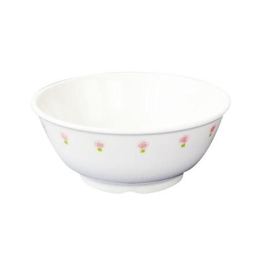 【1087-1060】強化磁器 11cm こども茶碗 花の冠(ピンク)