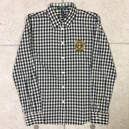 OLD LAUREN RALPH LAUREN ギンガムチェック シャツ size:M