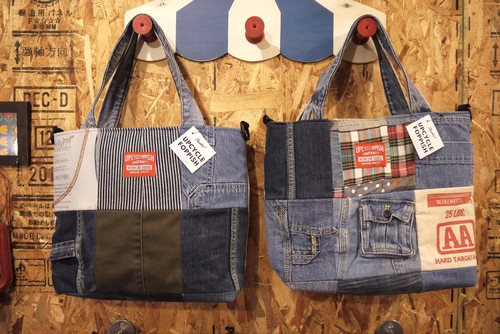 Patchwork tote (ファスナー開閉タイプ)