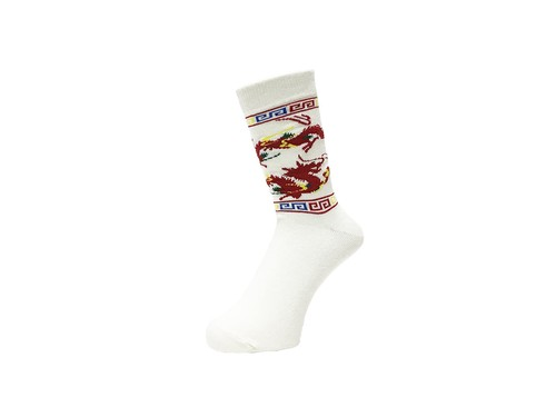 WHIMSY - 32/1 DRAGON SOCKS (White)