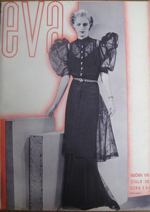 チェコのモード誌「eva」1936年9月15日号