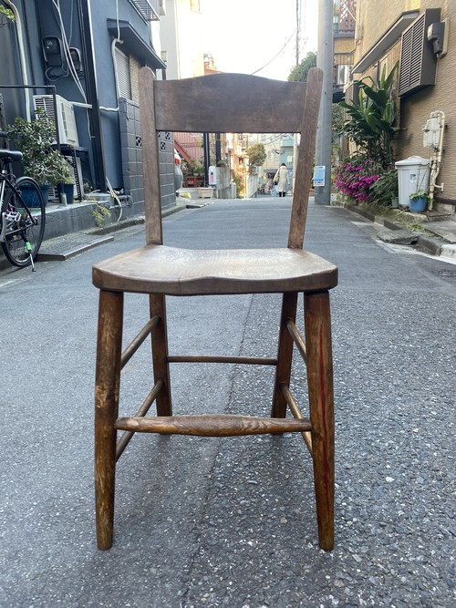 vintage school chair