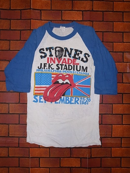 "THE ROLLING STONES 1981 TOUR T-SHIRTS ""TATTOO YOU"""