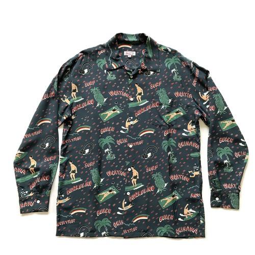 Mountain Men's 長袖オープンアロハシャツ / VACATION / NAVY