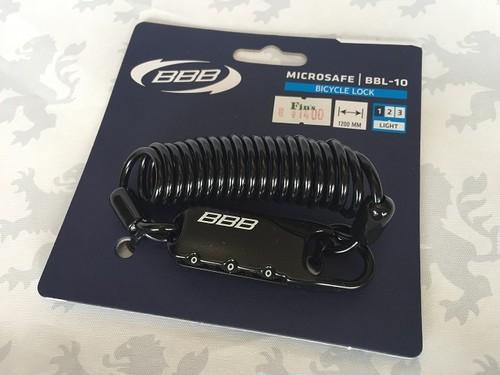 ロードバイクにオススメ BBB ミニワイヤー錠 「 マイクロセーフ 」。