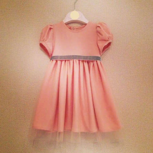 KIDS dress making set  -knit jersey &tulle dress-