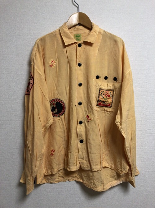 80's hand embroidery shirt