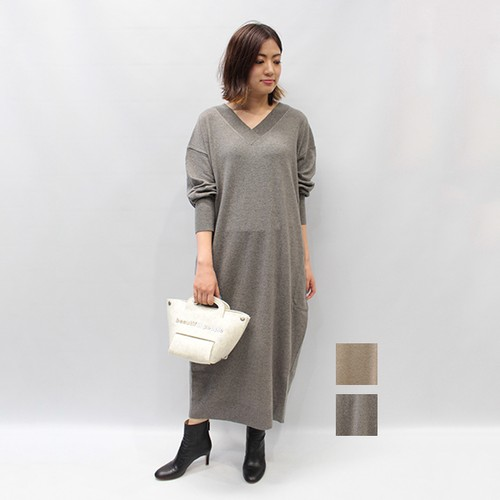 OUTERSUNSET(アウターサンセット) lambswool cocoon knit one piece 2020秋冬物新作[送料無料]