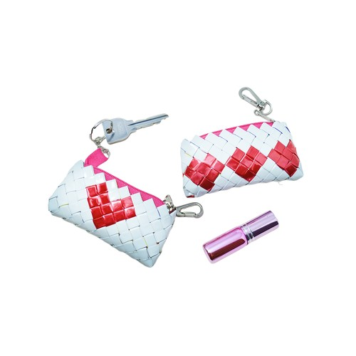 Origami Lip&Key Holder 1Heart / 3Hearts White