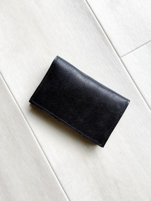 メンズ革小物 カードケース 本革 ブラック 名刺入れ パスケース