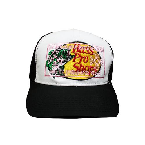 CANT CLOTHING Chrome Bass Trucker Hat BLACK × WHITE