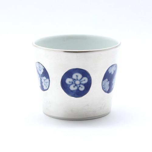 銀彩染付 丸紋 フリーカップ(大)