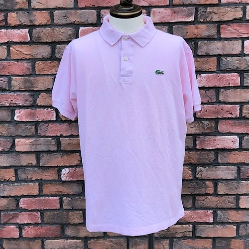 1980s Lacoste Polo Shirt L/Pink Made In France 5
