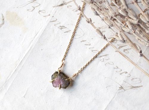 【一点物】原石のウォーターメロントルマリンのネックレス