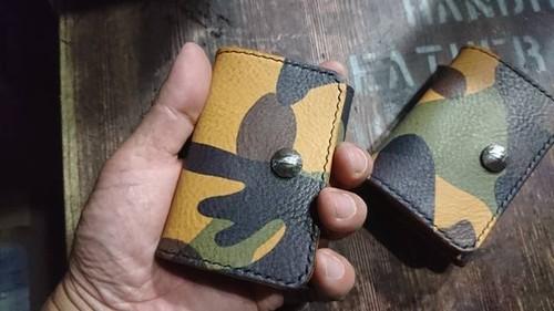 迷彩 カモフラ ボックス コインケース
