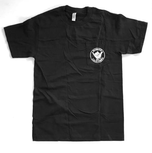 Bummer California - SHAKA POCKET TEE SHIRT, black