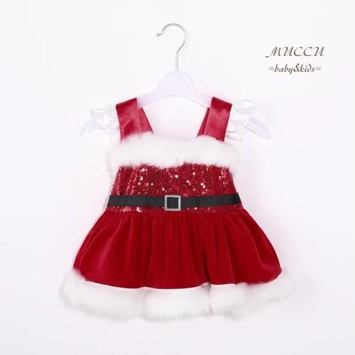 送料無料!《即納】ベビー クリスマス ドレス 66cm〜100cm  女の子 姉妹 出産祝い