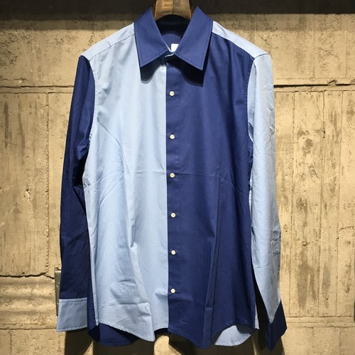 【MAISON HONORE】 BLUE BLUE SHIRT