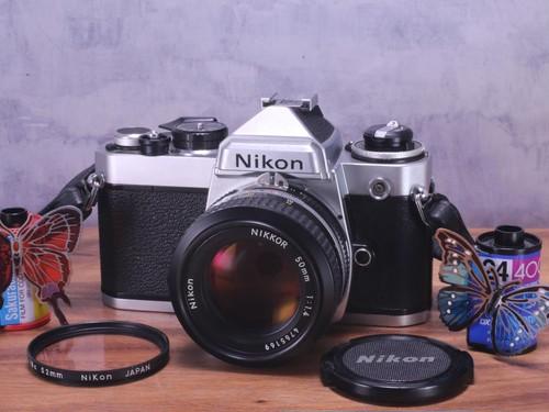 Nikon FE シルバー 単焦点レンズ