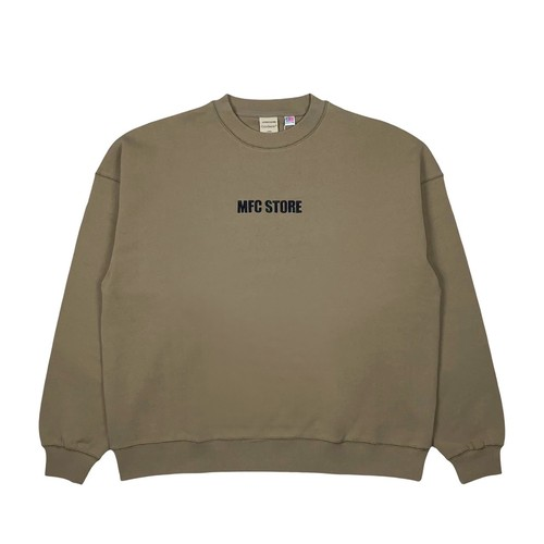 MFC STORE x Goodwear EMBROIDERY SIDE LOGO CREWNECK / BEIGE