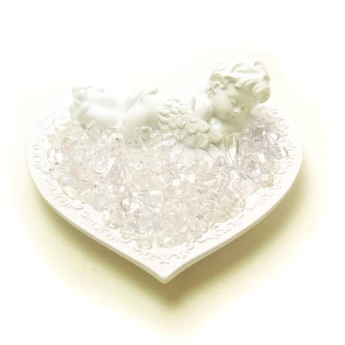 sale! 天使のラブプレート 水晶さざれ付