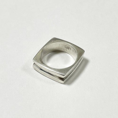 Vintage 925 Silver Design Ring Made In Mexico