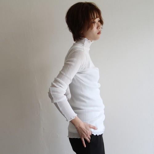 PHEENY【 womens 】rib frill high neck