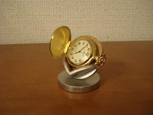 懐中時計スタンド  横向き懐中時計蓋開きディスプレイスタンド  No.121113