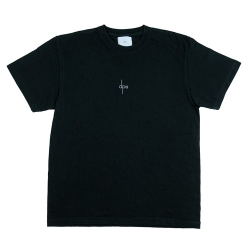 T-SHIRT <White Logo × Black>
