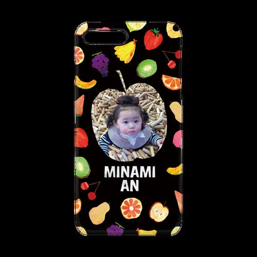 iPhone・Android Mサイズ フルーツハードケース color:ブラック