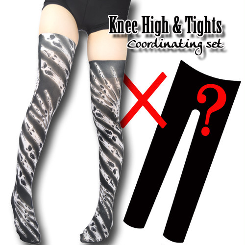 Set sales★<レントゲン/X-ray>Selectable knee high socks & Tights!