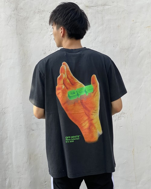 OFF-WHITE HAND ロゴ Tシャツ
