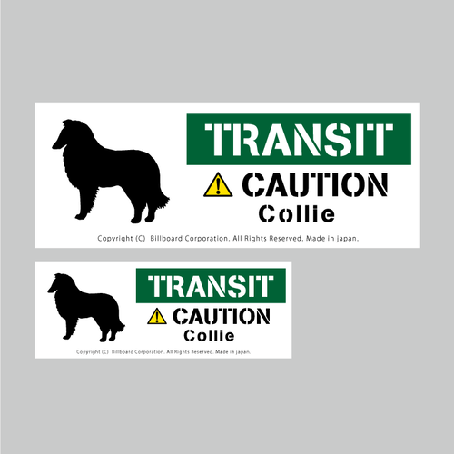 TRANSIT DOG Sticker [Colie]番犬ステッカー/コリー