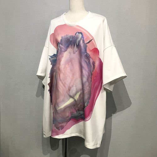 big top white chaos graphics(pink)【FRANCOISE】