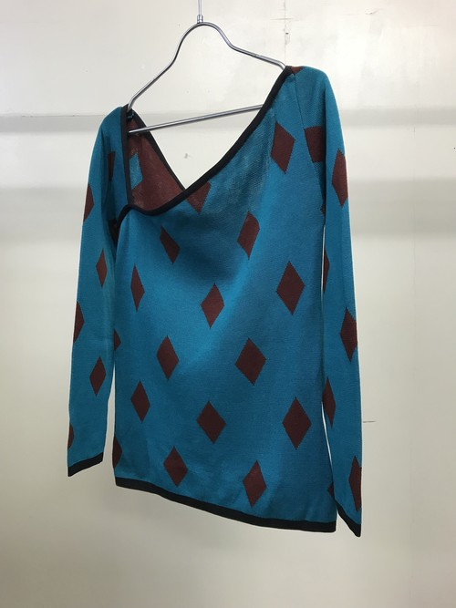 1980s YVES SAINT LAURENT ASYMMETRICAL SWEATER