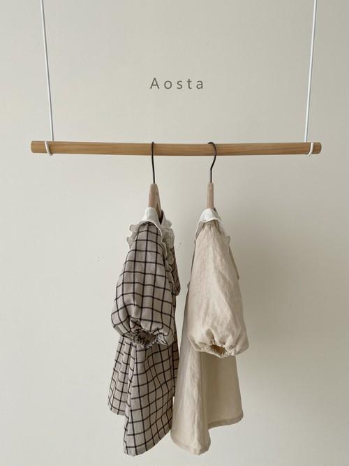 【予約販売】bask collar-dress〈Aosta〉